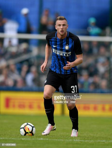 Milan Skriniar of FC Internazionale in action during the PreSeason Friendly match between FC Internazionale and Nurnberg on July 15 2017 in Bruneck...