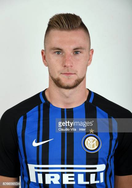 Milan Skriniar of FC Internazionale poses on July 12 2017 in Reischach near Bruneck Italy