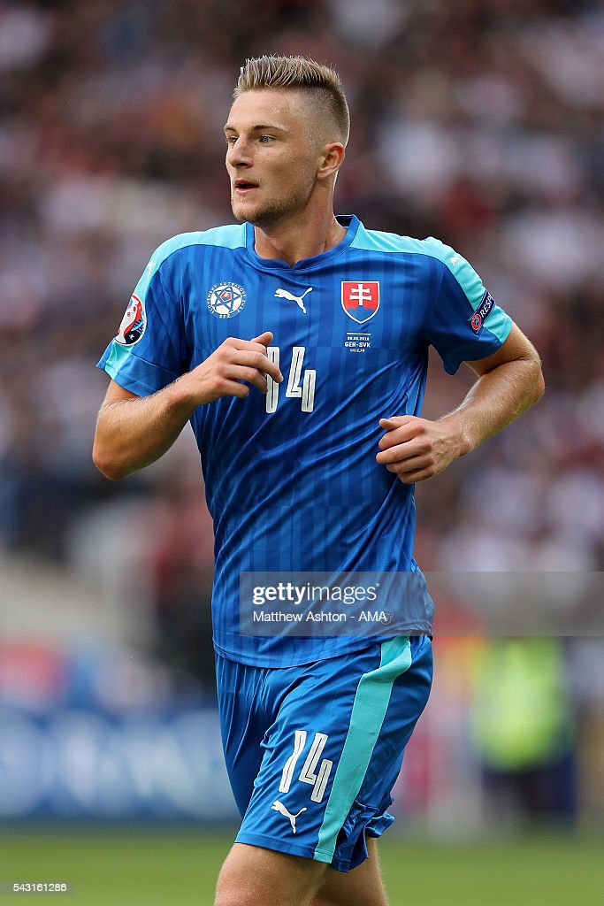 Milan Skriniar of Slovakia in action during the UEFA Euro 2016 Round of 16 match between Germany and Slovakia at Stade Pierre-Mauroy on June 26, 2016 in Lille, France.