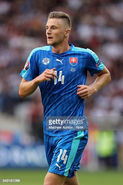Milan Skriniar of Slovakia in action during the UEFA Euro 2016 Round ...