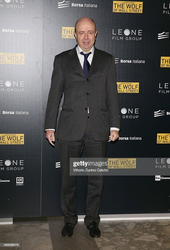 Milan Stock Exchange General Manager Raffaele Jerusalmi attends 'The Wolf Of Wall Street' Milan Premiere on January 16, 2014 in Milan, Italy.