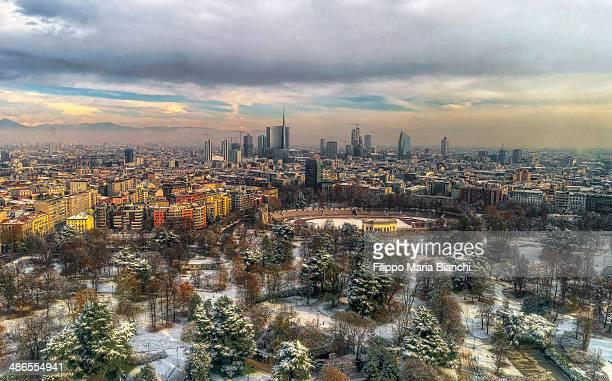 Milan under snow