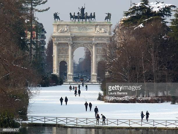 Milan under the snow