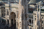 Vittorio Emanuele II gallery, view from the roof of the Cathedral