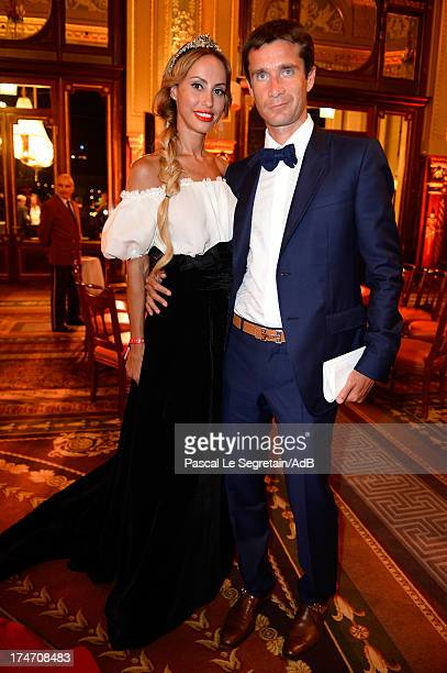 Milana Koroleva and Michael Kuchment attend the dinner at 'Love Ball' hosted by Natalia Vodianova in support of The Naked Heart Foundation at Opera...