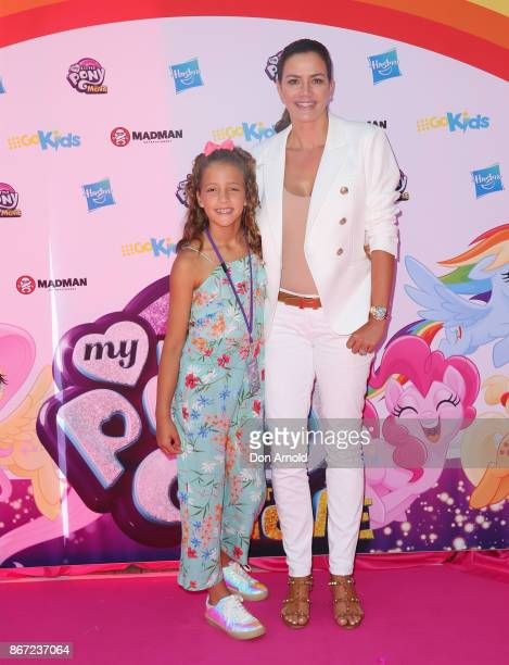 Milana Marsh and Krissy Marsh arrive ahead of the My Little Pony The Movie Sydney Premiere on October 28 2017 in Sydney Australia