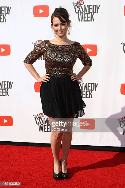 Milana Vayntrub attends YouTube Comedy Week 'The Big Live Comedy Event' at Culver Studios on May 19 2013 in Culver City California