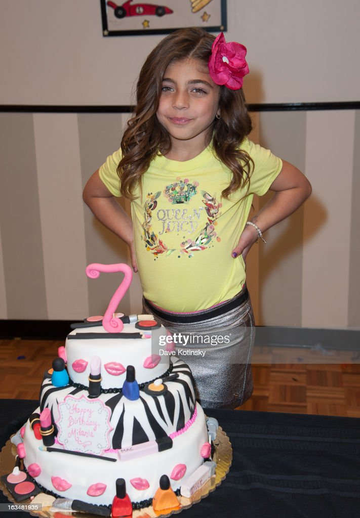 Milania Giudice attends Milania Giudice's 7th Birthday Celebration at Just Kidding on March 10, 2013 in Wayne, New Jersey.
