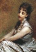 Milano Civiche Raccolte D'Arte Museo Dell'Ottocento Villa Belgiojoso Bonaparte Portrait of Countess Arrivabene Marta Bussi Rosnati by Daniele Ranzoni...