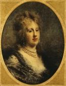 Milano Civiche Raccolte D'Arte Museo Dell'Ottocento Villa Belgiojoso Bonaparte Portrait of Baroness Francfort 18701880 by Daniele Ranzoni oil on...