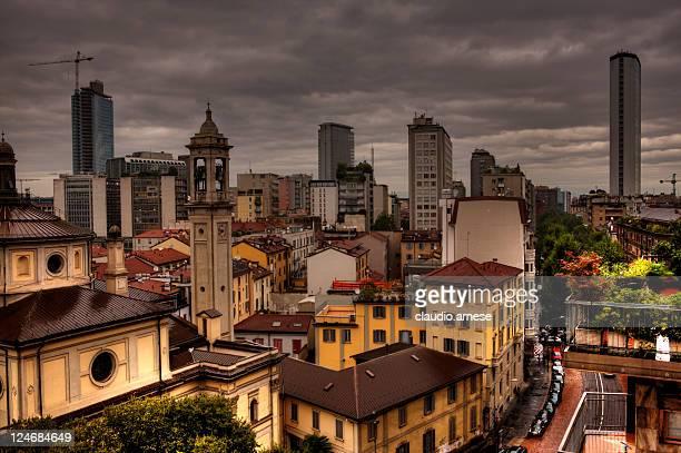 Milano. Raining día. Imagen de Color