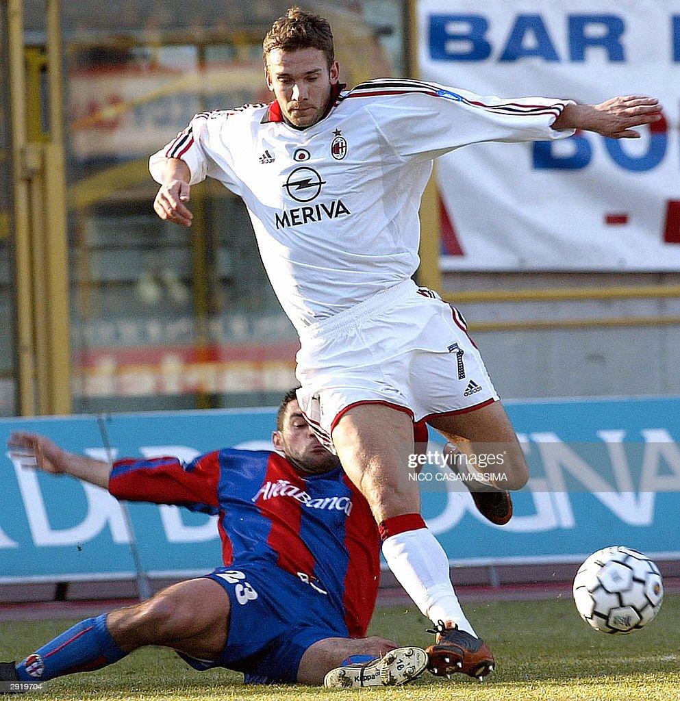 AC Milan s forward Andriy Shevchenko of