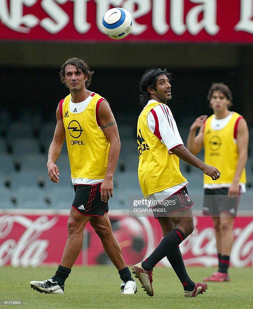 Milan s players Italian Paolo Maldini L