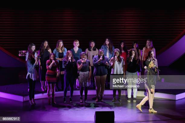Milck performs at the Eighth Annual Women In The World Summit at Lincoln Center for the Performing Arts on April 7 2017 in New York City