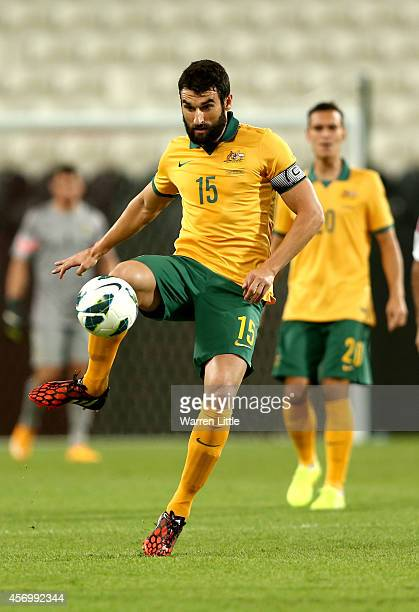 Mile Jedinak Australian Captain in action durng the international friendly between the UAE and Australia at Mohamed Bin Zayed Stadium on October 10...