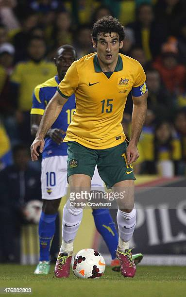 Mile Jedinak of Australia during the International Friendly match between Australia and Ecuador at The Den on March 05 2014 in London England