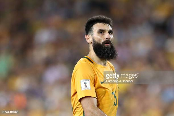 Mile Jedinak of Australia looks on during the 2018 FIFA World Cup Qualifiers Leg 2 match between the Australian Socceroos and Honduras at ANZ Stadium...