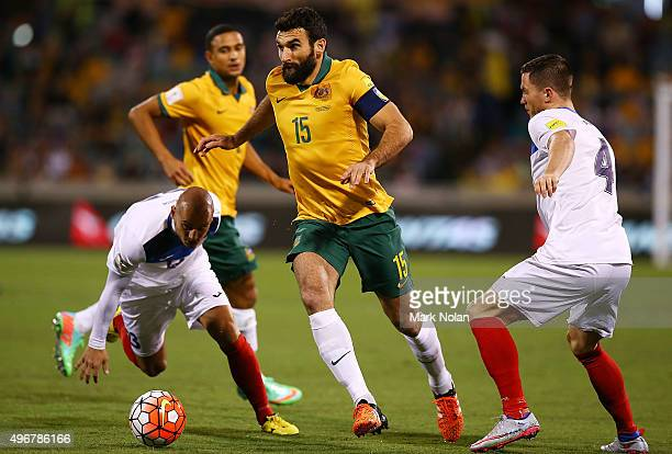 Mile Jedinak of the Socceroos in action during the 2018 FIFA World Cup Qualification match between the Australian Socceroos and Kyrgyzstan at GIO...