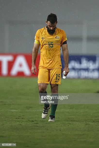 Mile Jedinak of the Socceroos looks dejected after a 22 draw the 2018 FIFA World Cup Qualifier match between Thailand and the Australia Socceroos at...