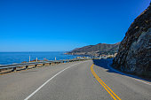California view driven 17 mile road Big Sur Monterey bay area with trees