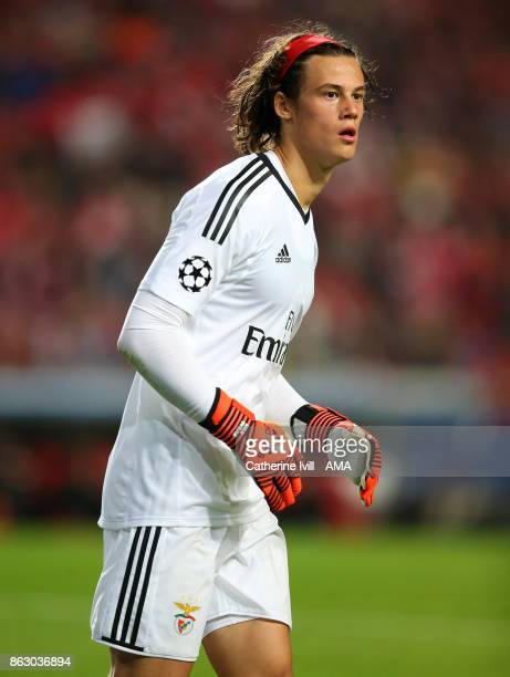 Mile Svilar of Benfica during the UEFA Champions League group A match between SL Benfica and Manchester United at Estadio da Luz on October 18 2017...