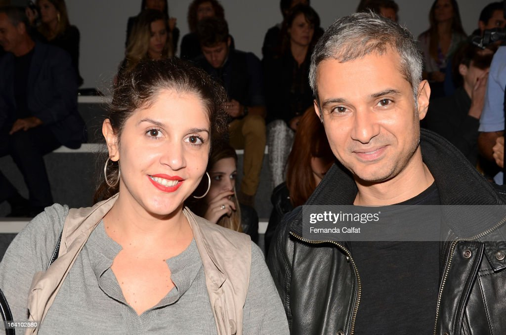 Milena Chaves and Sylvann at the Forum show during Sao Paulo Fashion Week Summer 2013/2014 on March 19, 2013 in Sao Paulo, Brazil.