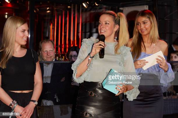 Milena Jaeckel Marina Hoermanseder and Wana Limar attend the Young ICONs Award in cooperation with HM and Tiffany's Co at BRLO Brwhouse on February...