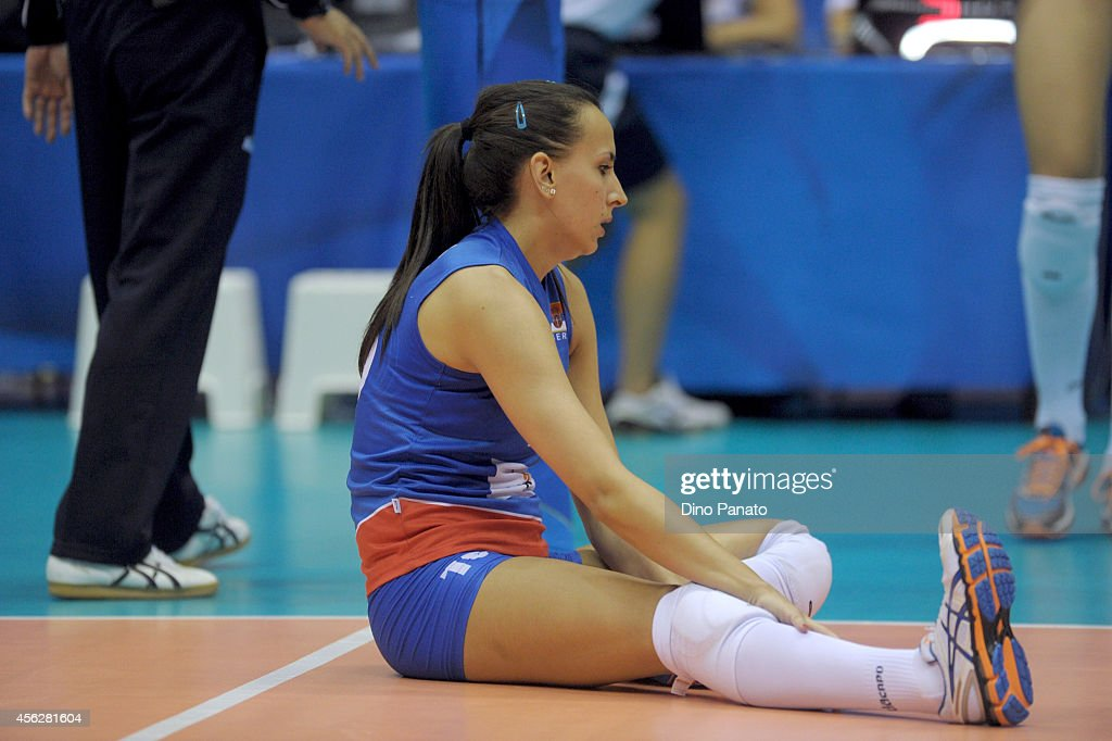 Milena Rasic of Serbia shows her dejection during the FIVB Women's World Championship pool Brankica Mihajlovic of Serbia B match between on September 28, 2014 in Trieste, Italy.