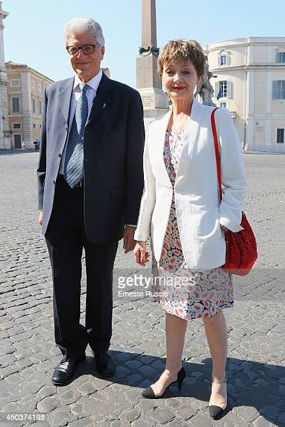 Milena Vukotic and guest attend the David Di Donatello Awards Nominees At Palazzo Quirinale on June 10 2014 in Rome Italy