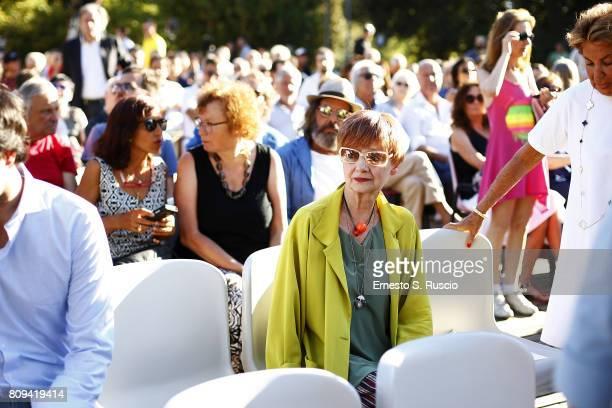 Milena Vukotic attends the Paolo Villaggio Funeral at Casa del Cinema on July 5 2017 in Rome Italy
