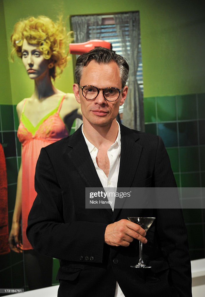 Miles Aldridge attends the private view of 'Miles Aldridge: I Only Want You To Love Me' at Embankment Gallery on July 9, 2013 in London, England.