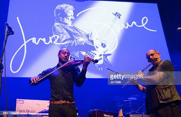 Miles Brett and Ian Anderson of Jethro Tull performs on stage at Sunshine Of Your Love A concert Celebrating The Life And Music Of Jack BruceThe...