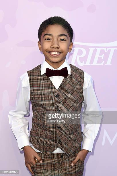 Miles Brown arrives at Variety's Celebratory Brunch Event For Awards Nominees Benefiting Motion Picture Television Fund at Cecconi's on January 28...