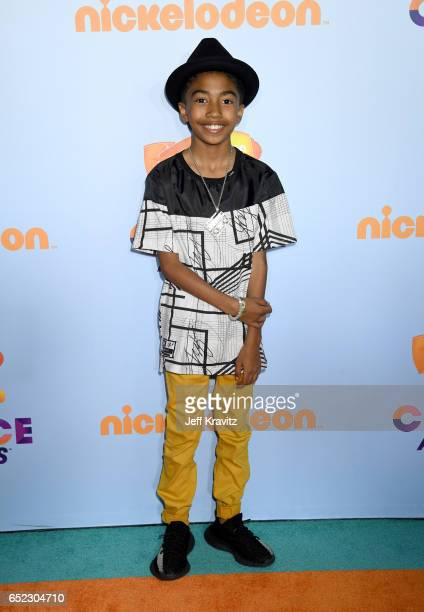 Miles Brown at Nickelodeon's 2017 Kids' Choice Awards at USC Galen Center on March 11 2017 in Los Angeles California