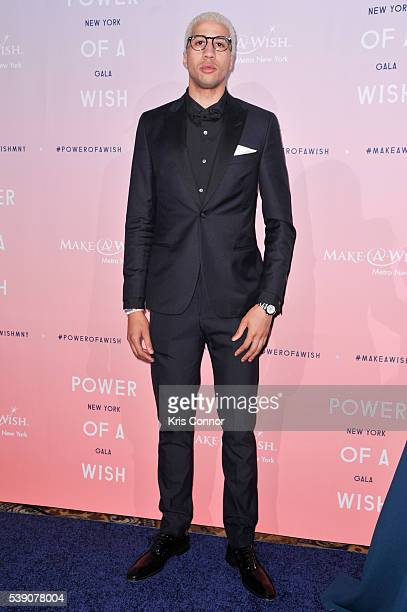 Miles ChamleyWatson poses for photographers during the 2016 MakeAWish Metro New York Gala at Cipriani Wall Streeton June 9 2016 in New York City