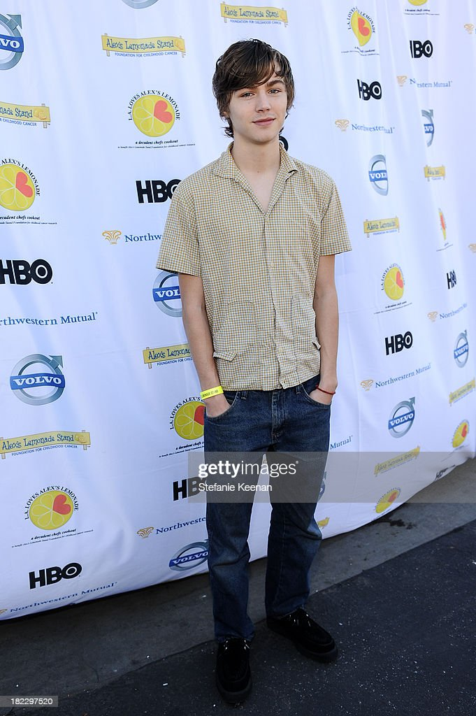 Miles Heizer attends LA Loves Alex's Lemonade event at Culver Studios on September 28, 2013 in Culver City, California.