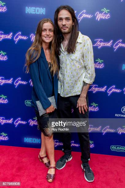 Miles JorisPeyrafitte and guest attend The New York premiere of 'Ingrid Goes West' hosted by Neon at Alamo Drafthouse Cinema on August 8 2017 in the...
