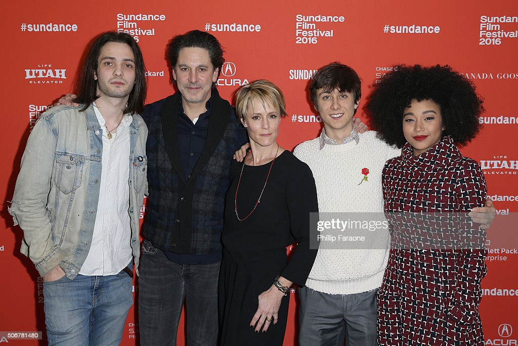 Miles Joris-Peyrafitte, Scott Cohen, Mary Stuart Masterson, Owen Campbell and Amandla Stenberg attend the 'As You Are' Premiere during the 2016 Sundance Film Festival at Library Center Theater on January 25, 2016 in Park City, Utah.