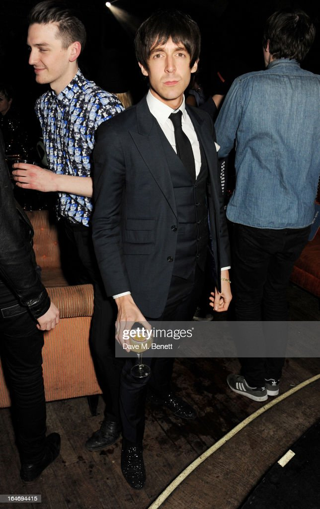 Miles Kane attends the ABSOLUT Elyx launch party at The Box Soho on March 26, 2013 in London, England.
