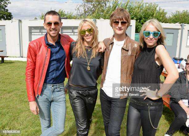 Miles Kane Nicole Appleton Jay Sharrock and Natalie Appleton attend the Mahiki Rum Bar for the launch of the Mahiki Rum Family backstage during day 1...