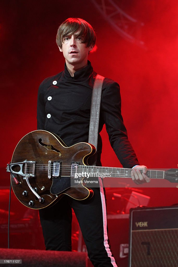 <a gi-track='captionPersonalityLinkClicked' href=/galleries/search?phrase=Miles+Kane&family=editorial&specificpeople=4860678 ng-click='$event.stopPropagation()'>Miles Kane</a> performs at day 2 of the Lowlands Festival on August 17, 2013 in Biddinghuizen, Netherlands.