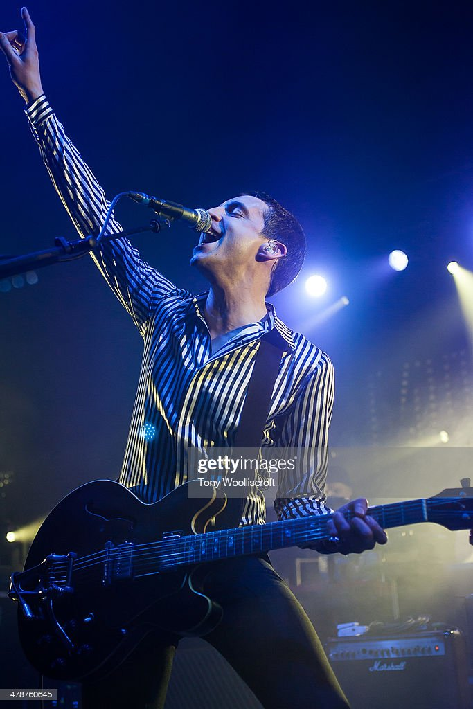 <a gi-track='captionPersonalityLinkClicked' href=/galleries/search?phrase=Miles+Kane&family=editorial&specificpeople=4860678 ng-click='$event.stopPropagation()'>Miles Kane</a> performs at Wulfrun Hall on March 14, 2014 in Wolverhampton, England.