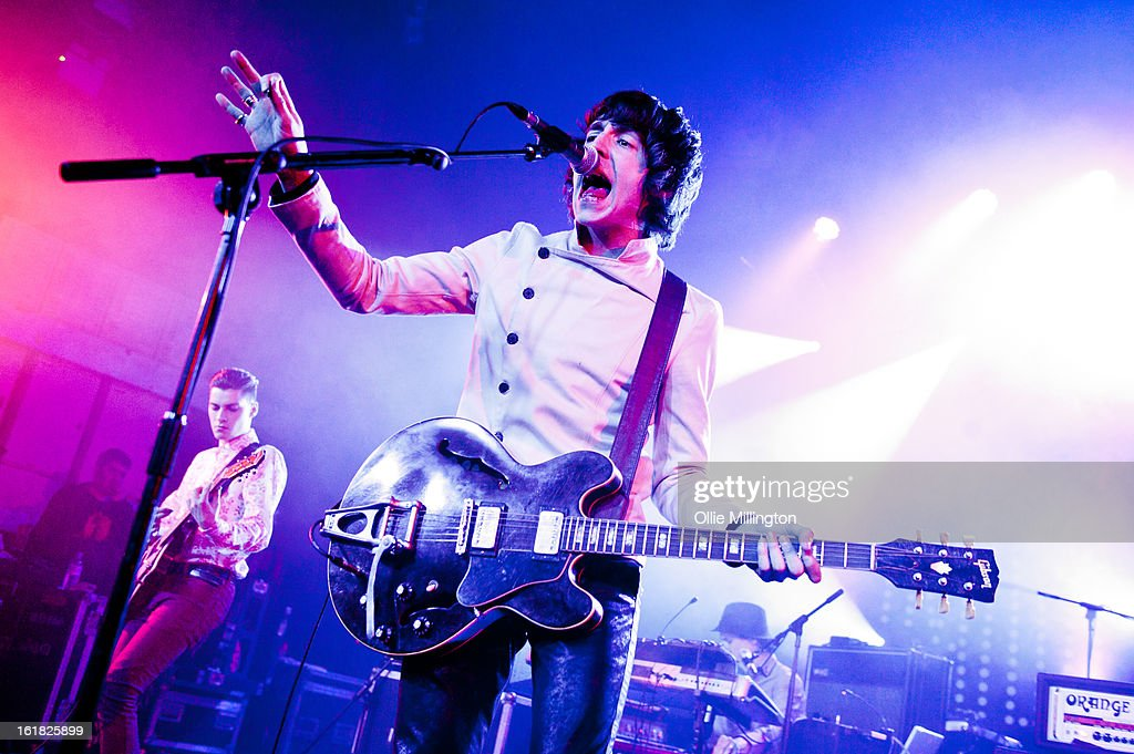 Miles Kane Performs onstage during the NME Awards Tour at O2 Academy on February 16, 2013 in Birmingham, England.