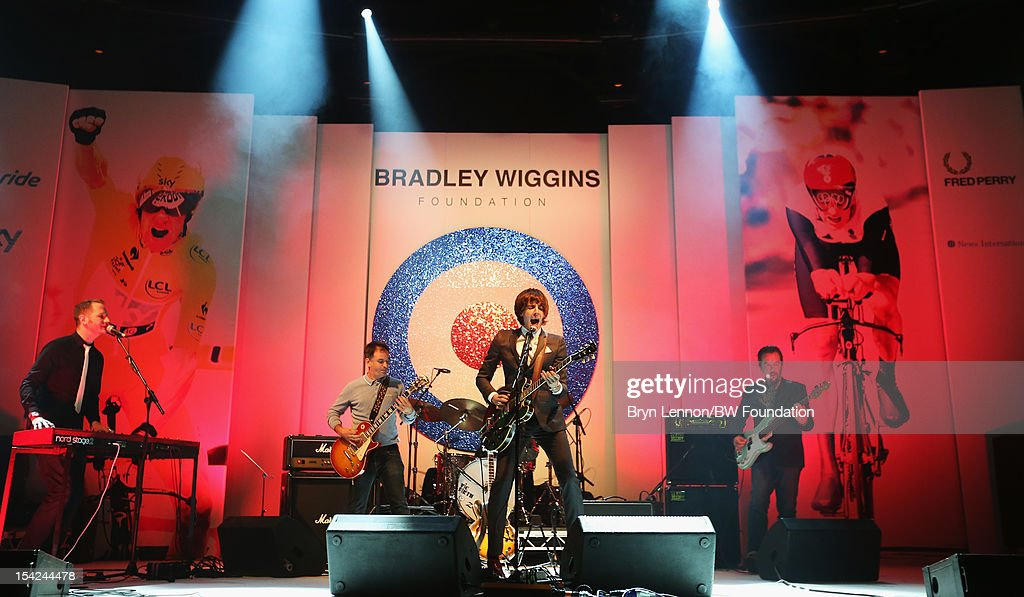 Miles Kane plays at the Bradley Wiggins Foundation 'The Yellow Ball' event at The Roundhouse on October 16, 2012 in London, England. The dinner and entertainment show was held to celebrate the historic achievements of Great Britain's cyclist Bradley Wiggins in 2012, including his Tour de France win and Olympic gold achievements. The Foundation aims to promote participation in sport, to encourage young people to exercise regularly, and to support athletes from all sports to take their talent to the next level.