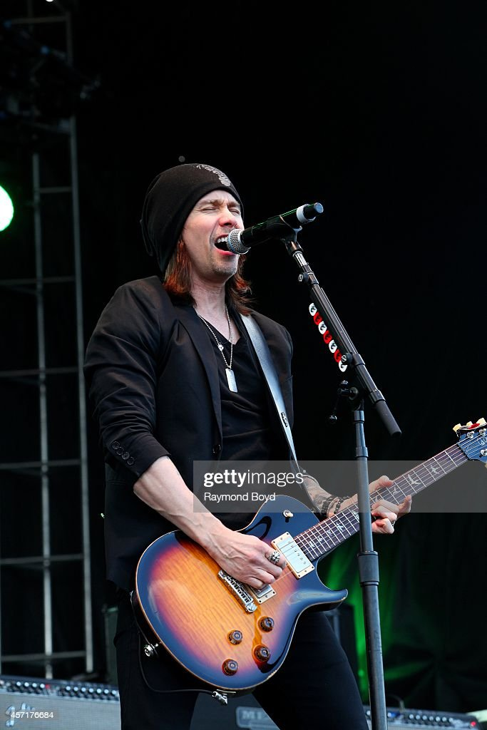Miles Kennedy from Alter Bridge performs during the 'Louder Than Life' Music Festival in Champions Park on October 04 2014 in Louisville Kentucky