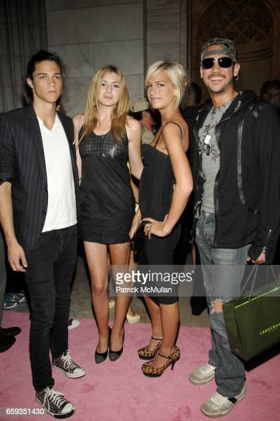 Miles McMillan Amanda Lyons Alexa Winner and Alexander Shoong attend PAPER Magazine 25th Anniversary Party at New York Public Library on September 8...