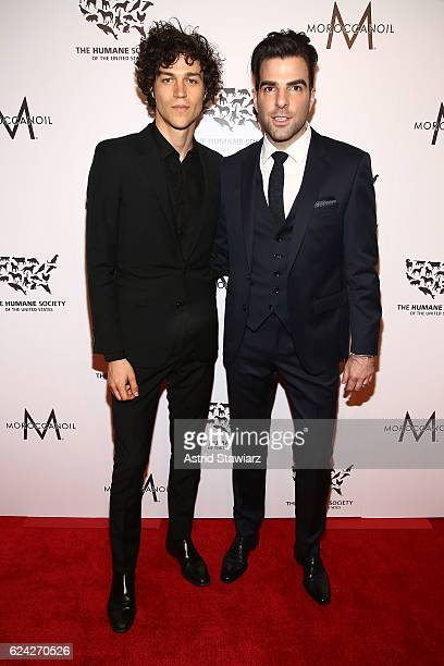 Miles McMillan and Zachary Quinto attend 2016 Humane Society Of The United States To The Rescue New York Saving Animal Lives at Cipriani 42nd Street...