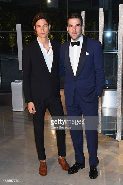 Miles McMillan and Zachary Quinto attend the 2015 CFDA Fashion Awards at Alice Tully Hall at Lincoln Center on June 1 2015 in New York City
