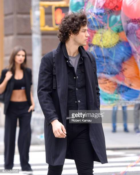 Miles Mcmillan seen at a photoshoot in SoHo on April 24 2017 in New York City