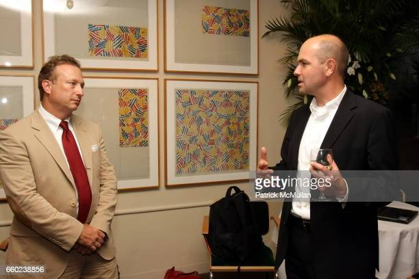 Miles Nadal and Chris Anderson attend Book Launch for Chris Anderson's 'Free The Future of a Radical Price' at Michael's Restaurant on July 7 2009 in...